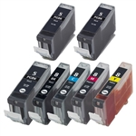 7 pack Canon cli-8 PGI-5 Ink Cartridges for Canon Pixma Printers