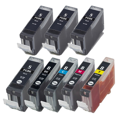 8 pack Canon cli-8 PGI-5 Ink cartridges for IP and pixma printers