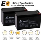 2 Pack - 12V 7Ah SLA Batteries