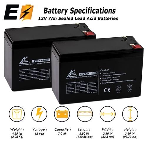 12V 7AH SLA Battery for Speedrite S500 Solar Energizer VICI Battery Brand Product
