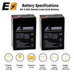 2 Pack - 6V 4.5Ah SLA Batterie