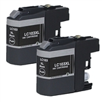 Brother LC103 XL Black Ink Cartridge Set for MFC