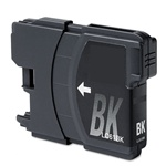 Brother LC61Bk Ink Cartridge, Black, Remanufactured
