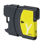 Brother LC61Y Ink Cartridge,Yellow, Remanufactured