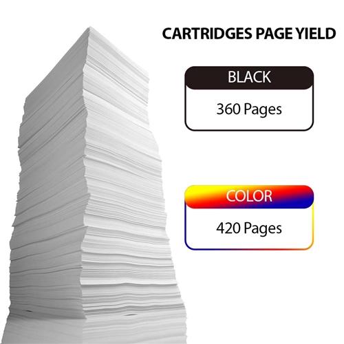 2 Set 5 Color + 2 Black No-name Compatible Ink Cartridge Replacement for Canon PGI-220 CLI-221 PGI-220XL PGI 220 XL PGI220 PGI220XL Pixma MP640 MP640R MP980 MP990 Inkjet Printer