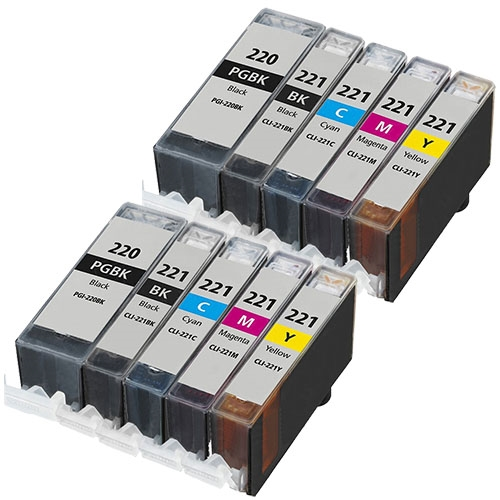 Tuobo PGI-220 CLI-221 Ink Cartridges Replacement Compatible with PIXMA IP3600 IP4600 IP4700 MX860 MX870 MP560 MP620 MP620B MP640 MP980 MP990 PMFP1 PMFP3 SFP1 SFP2 Printer 30pcs Without Gray