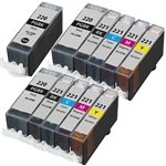 11PK Canon PGI-220 CLI-221 Ink Cartridges combo