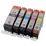50 Canon PGI-220 INK,CLI-221 Ink Cartridges combo