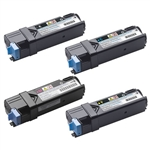 Dell 2150 2155 BCYM 4 Color High Yield Toner Cartridge Set for Dell 2150 2155