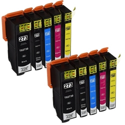 Epson 273XL Ink Cartridges,10 Set ,Remanufactured