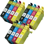 Epson T220xl-4 Ink Cartridges,12 Set ,Remanufactured