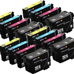 Epson T252xl-4 Ink Cartridges,16 Set ,Remanufactured