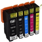 Epson 273XL Ink Cartridges,5 Set ,Remanufactured