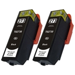 2 Pack black Epson 273XL Ink Cartridges,2 Pack Black ,Remanufactured
