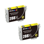 2 Epson T288 XL- Epson T288XL123 (T288XL) Yellow for Epson Expression XP-330,430,434 Cartridges,Remanufactured