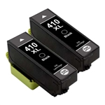 Epson 410XL Ink Cartridges,2 Black ,Remanufactured
