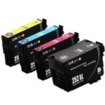 Epson 252xl ink Cartridges, 4 Set , Remanufactured