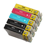 Epson T125 5 Pack Remanufactured Inkjet Cartridges (Black,Magenta,Cyan,Yellow) (T125120,T125220,T125320,T125420)