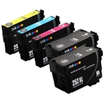 Epson T252xl-5 Ink Cartridges,5 Set ,Remanufactured