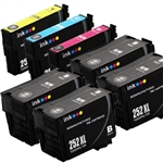 Epson T252xl-6 Ink Cartridges,7 Set ,Remanufactured