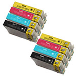 Epson T125- Epson 51 T125120 (T1251) BCYM Ink Set for Stylus NX127 NX130 NX230 NX420 NX530 Cartridges,8 Set ,Remanufactured