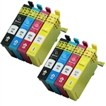 Epson T220xl-4 Ink Cartridges,8 Set ,Remanufactured