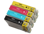 Epson T125- Epson 51 T125120 (T1251) BCYM Ink Set for Stylus NX127 NX130 NX230 NX420 NX530 Cartridges,4 Set ,Remanufactured