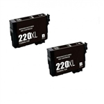 2x Epson 220xl remanufactured Ink Cartridge