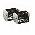 Epson T252xl Black High Yield  Ink Cartridge Remanufactured