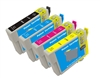 Epson T0881- Epson 88 T1088120 (T0881) BCYM Ink Set for Stylus CX4400 CX7400 NX100 NX200 NX300 NX400 Cartridges,4 Set ,Remanufactured