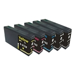 Epson 676XL Ink Cartridges, 5 Set , Remanufactured