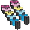 Hewlett Packard HP 02 Bulk Set Of 12 Ink Cartridges, Remanufactured.