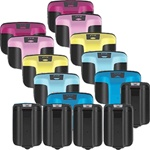 HP 02 Inkjet Cartridges,Remanufactured  Combo Pack Of 15 Cartridges(5 Black, 2 Each Colors)