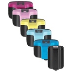 HP 02 Remanufactured  Set of 6 Ink Cartridges: 1 Pigment Black HP02, 1 each of HP02 C/M/Y/LC/LM