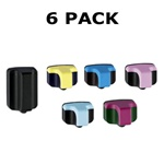6 Pack Hewlett Packard 02 ink cartridges