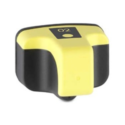 HP#02 (C8773WN) YELLOW Remanufactured  Ink Cartridge / Double yield