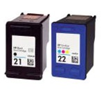 HP 4 PACK HP#21(C9351AN) + HP#22(C9352AN) BLACK & COLOR Remanufactured  Ink Cartridges
