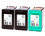 Hewlett Packard HP 92 & HP 93 Ink Cartridges.
