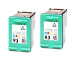 2 PACK HP #93 (C9361WN) COLOR remanufactured Ink Cartridges