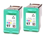 2 PACKHP#97 (C9363WN) COLOR remanufactured Ink Cartridge