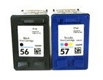 HP 56 HP 57 BLACK INK CARTRIDGE C6656AN C6657AN