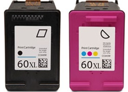 Combo Pack HP#60XL Black (CC641WN) + HP#60XL Color (CC644WN) Remanufactured Ink Cartridges