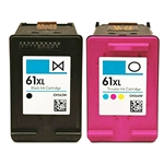Combo Pack HP#61XL Black (CH563WN) + HP#61XL Color (CH564WN) Remanufactured Ink Cartridges