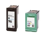 HP Inkjet Cartridges 2 Pack Combo, HP 96 Black (C8767WN) & HP 97 Color (C9363WN) Remanufactured