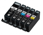 Canon PGI225 & CLI226 Remanufactured  Set of 20 Ink Cartridges: 4 Pigment Black PGI225, 4 each of CLI226 B/C/M/Y
