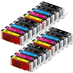 Canon PGI-270XL & CLI-271XL Remanufactured  Set of 20 Ink Cartridges: 4 Pigment Black PGI270XL, 4 each of CLI271XL B/C/M/Y