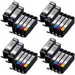 Canon PGI-270XL & CLI-271XL Remanufactured  Set of 24 Ink Cartridges: 8 Pigment Black PGI270XL, 4 each of CLI271XL B/C/M/Y