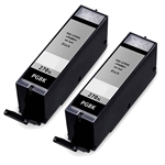 2 Pack Remanufactured  Canon PGI-270XL Ink Cartridge: 2 Pigment Black PGI270X