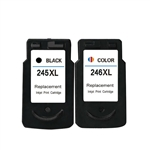 Canon PG245xl & CL246 Combo Pack Of 2 Ink Cartridges: 1 Black PG245xl, 1 Color CL246