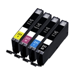 Canon CLI-251XL Remanufactured  Set of 4 Ink Cartridges: 1 each of CLI251XL Bk/C/M/Y